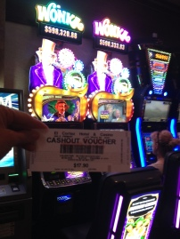 Penny's big win on the Wonka Slots